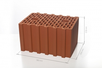 Крупноформатный поризованный блок 10,7 НФ